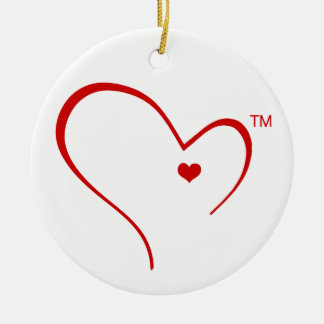 Handschuhe für Detroit-Herz-Logo-Kreis-Verzierung Rundes Keramik Ornament