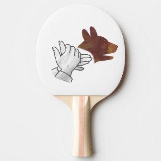 HandSilhouette-Hund Brown Tischtennis Schläger