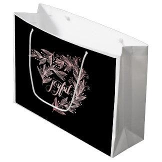 Handskript frohe Feriengeschenk-Tasche Große Geschenktüte