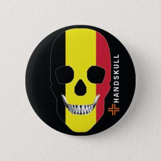 HANDSKULL Belgien, glücklicher Schädel, Runder Button 5,1 Cm