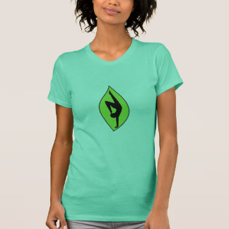 Handstand-Silhouette - Yoga-Behälter-Spitze T-Shirt
