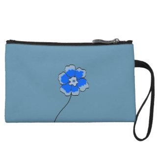 Handtasche-blaue Blumengewohnheit Kleine Clutch