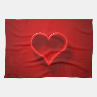 Handtuch - Kissen 3D - Herz-Form für Verliebte