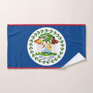 Handtuch mit Flagge von Belize