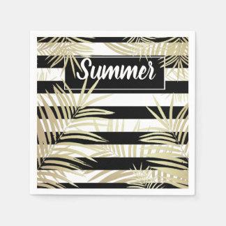 Handtücher aus Papier Palmenbaumblätter Papierserviette