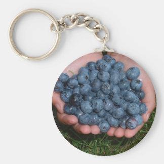 Handvoll frische Blaubeeren Schlüsselanhänger