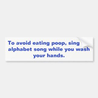 Handwaschendes Zeichen Autoaufkleber