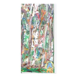 Handwerker, bunte, abstrakte, Volkskunst, Individuelle Foto Karte