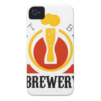Handwerks-Bier-Brauerei-Logo-Entwurfs-Schablone iPhone 4 Hülle