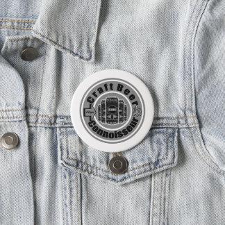 Handwerks-Bier-Kenner-Grau Runder Button 7,6 Cm