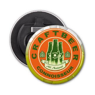 Handwerks-Bier-Kenner - orange Grün Runder Flaschenöffner