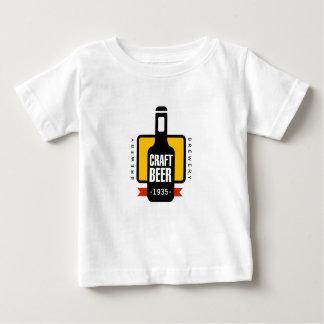 Handwerks-Bier-Logo-Entwurfs-Schablone Baby T-shirt