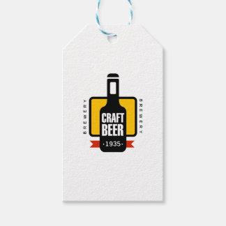 Handwerks-Bier-Logo-Entwurfs-Schablone Geschenkanhänger