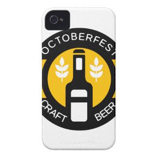 Handwerks-Bier-Logo-Entwurfs-Schablone mit Flasche iPhone 4 Case-Mate Hüllen