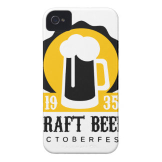 Handwerks-Bier-Logo-Entwurfs-Schablone mit halbem iPhone 4 Hülle