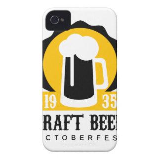 Handwerks-Bier-Logo-Entwurfs-Schablone mit halbem iPhone 4 Hüllen