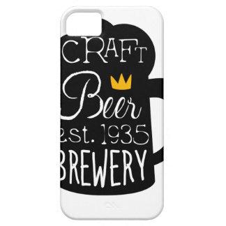 Handwerks-Bier-Logo-Entwurfs-Schablone mit halbem Schutzhülle Fürs iPhone 5