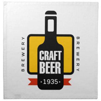 Handwerks-Bier-Logo-Entwurfs-Schablone Serviette