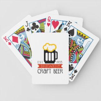 Handwerks-Brauerei-Logo-Entwurfs-Schablone Bicycle Spielkarten
