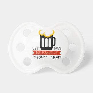 Handwerks-Brauerei-Logo-Entwurfs-Schablone Schnuller