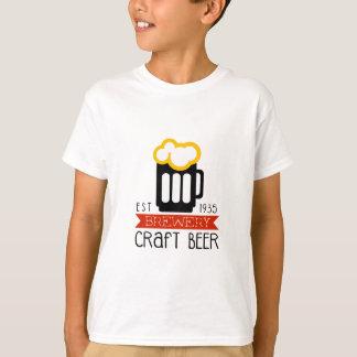 Handwerks-Brauerei-Logo-Entwurfs-Schablone T-Shirt