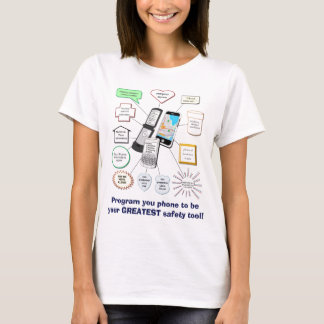 Handy als Sicherheits-Werkzeug T-Shirt