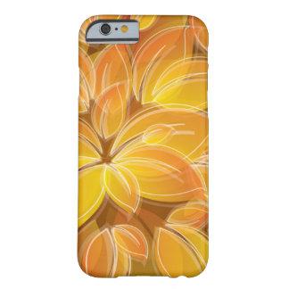 Handyhülle mit orangefarbenen Blüten Barely There iPhone 6 Hülle