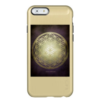 "Handyhülle shine gold ""Blume des Lebens"" Incipio Feather® Shine iPhone 6 Hülle"