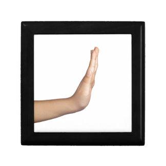 Handzeichen - Halt Geschenkbox