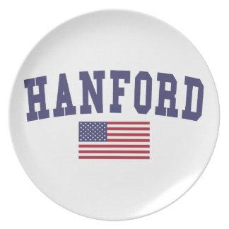Hanford US Flagge Flache Teller