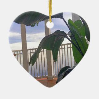 Hängematte im Paradies Keramik Herz-Ornament