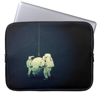 Hängen des Mondes Laptop Sleeve Schutzhüllen