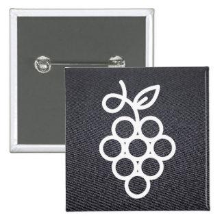 Hängende Früchte minimal Quadratischer Button 5,1 Cm