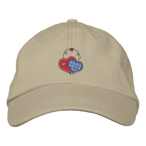 Hängende Herzen Bestickte Kappe