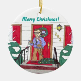 Hängende Lichter - Weihnachtsverzierung Keramik Ornament