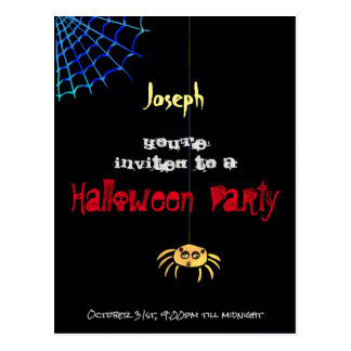 Hängende Spinne Halloween - Joseph Postkarte