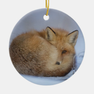 hängende Verzierung des Fuchses, foxy Dekor Rundes Keramik Ornament