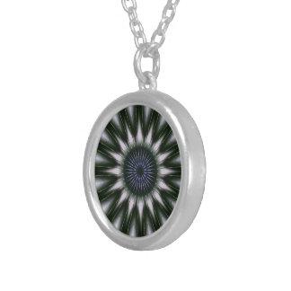 Hängendes Dekorationsmaskottchen der Augen-Mandala Versilberte Kette
