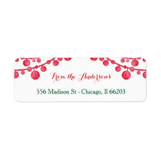 Hängendes Verzierungs-Weihnachtsadressen-Etikett