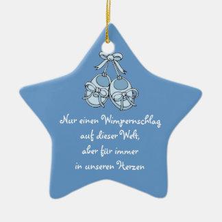 Hängeornament Stern Keramik Ornament