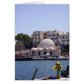 Hania, innerer Hafen Kretas Karte