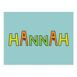 """Hannah"" Monster-Buchstaben Postkarten"