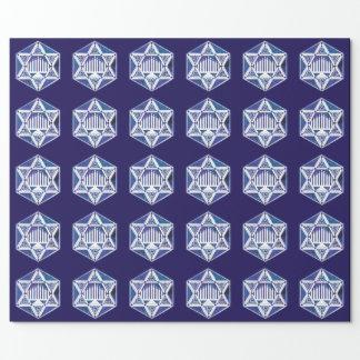 Hannukah Menorah und Stern Geschenkpapier