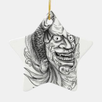 Hannya Maske Koi Keramik Stern-Ornament