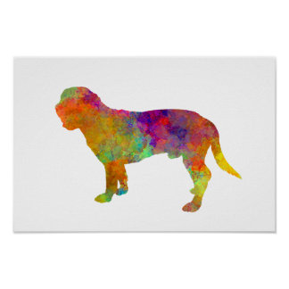 Hanoverian Scenthound im Watercolor Poster