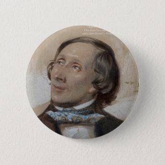 """Hans Christian Andersen""""Sonnenschein-Freiheits-"""" Runder Button 5,7 Cm"""