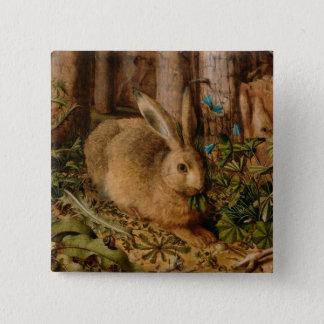 Hans Hoffmann ein Hase im Wald Quadratischer Button 5,1 Cm