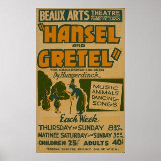 Hansel Gretel WPA Vintages Theater-Plakat Poster