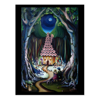 Hansel und Gretel: Jupigio-Artwork.com Postkarte