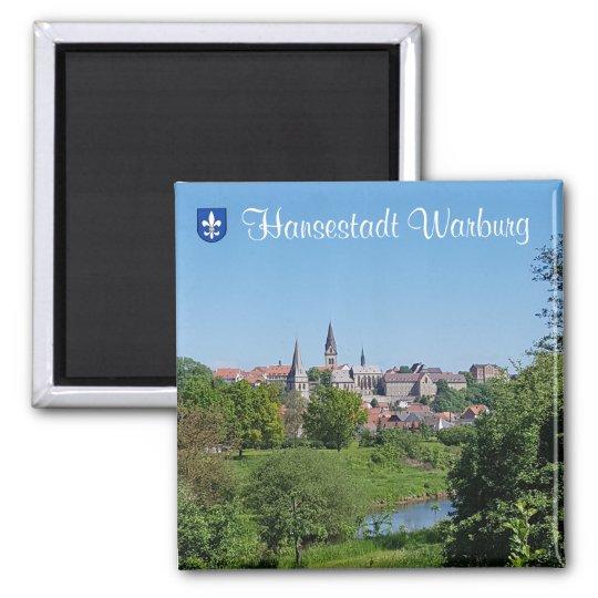 Hansestadt Warburg Quadratischer Magnet